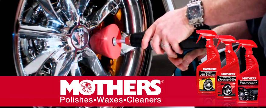 Καθαριστικά και γυαλιστικά για τα ελαστικά και τις ζάντες του αυτοκινήτου από την Mothers.