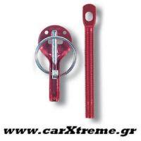 Γάντζοι Καπό Bonnet Pins Κόκκινοι Sparco