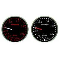 Μπαρόμετρο αυτοκινήτου Deamon Red - White 52mm