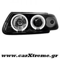 Φανάρι Εμπρός Μαύρο Citroen Saxo 96-99