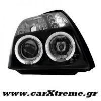 Φανάρι Εμπρός Μαύρο Citroen C2 03+