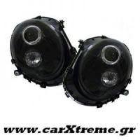 Φανάρι Εμπρός Μαύρα Mini Cooper R56, R55, R57 06+