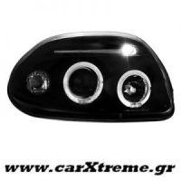 Φανάρι Εμπρός Angel Eyes Μαύρο Renault Clio II 98-01