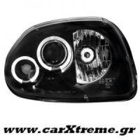 Φανάρι Εμπρός Μαύρο Renault Clio II 98-01
