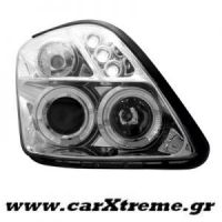 Φανάρι Εμπρός Angel Eyes Chrome Suzuki Swift 05-10