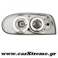 Φανάρι Εμπρός Angel Eyes Chrome VW Golf III 92-98