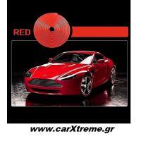 Διακοσμητική 3D Αυτοκόλλητη Ταινία για τις Ζάντες 8m Κόκκινο 52250