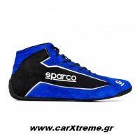 Sparco Slalom+ Fabric and Suede Αγωνιστικά Παπούτσια Μπλε / Μαύρο