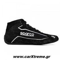 Sparco Slalom+ Fabric and Suede Αγωνιστικά Παπούτσια Μαύρο