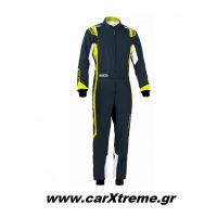 Sparco Φόρμα Kart Thunder Youth 002342BGSGF Γκρι/Κίτρινο