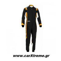 Sparco Φόρμα Kart Thunder Youth 002342BNRAF Μαύρο/Πορτοκαλί