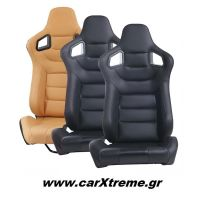 Αγωνιστικό Κάθισμα Αυτοκινήτου Δερματίνη 96x53x58cm