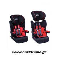 Παιδικό Κάθισμα Αυτοκινήτου Race Sport Isofix (Groups 1-2-3) Μαύρο/Κόκκινο RS123IF