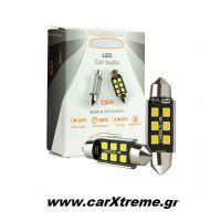 Λάμπα Led 6pcs SMD Canbus White Color (6000K) T10x31mm 1 ζεύγος