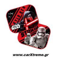 Ηλιοπροστασίες Αυτοκινήτου Πλαϊνές Star Wars First Order με Βεντούζες 2τεμ