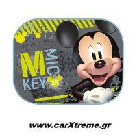 Ηλιοπροστασίες Αυτοκινήτου Πλαϊνές Mickey με Βεντούζες 2τεμ