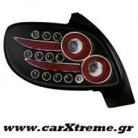 Φανάρι Πίσω Μαύρο Led Peugeot 206CC 98-09