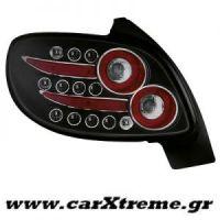 Φανάρι Πίσω Μαύρο Led Peugeot 206 98-09