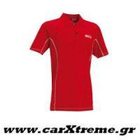 Μπλούζα Polo Κόκκινη Sparco