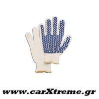 Γάντια Συνεργείου 00207 Άσπρο-Μπλε Sparco