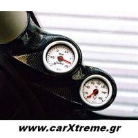 Βάση Οργάνων Κολώνας Διπλή Carbon Peugeot 206