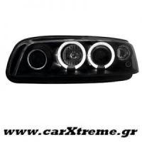 Φανάρι Εμπρός Μαύρο Fiat Punto 99-03