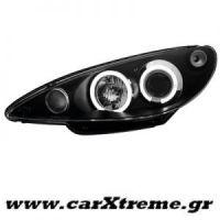 Φανάρι Εμπρός Μαύρο Peugeot 206 98-07