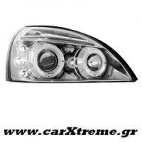 Εμπρός Φανάρι Αυτοκινήτου Chrome Για Renault Clio MK3 01-05