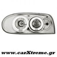 Φανάρι Εμπρός Angel Eyes Chrome VW Golf III 92-98
