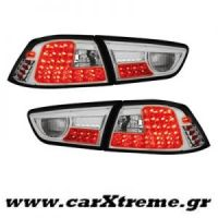 Φανάρι Πίσω Chrome Led Tail Mitsubishi lancer 08+