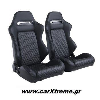 Αγωνιστικό Κάθισμα Αυτοκινήτου Δερματίνη Luxury