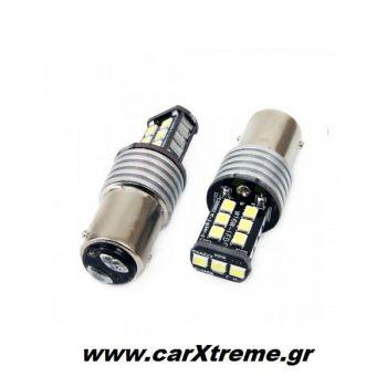P21W 1156 12-24V 7.5W 6.000K 800lm Λάμπα LED CANBUS 15SMD 2835